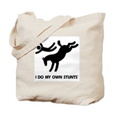 Horse I Do My Own Stunts Tote Bag