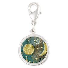 Nebra sky disk, Bronze Age - Silver Round Charm