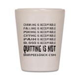ACCEPTABLE - WHITE Shot Glass