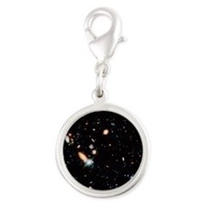 Very distant galaxies - Silver Round Charm