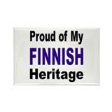 Proud Finnish Heritage Rectangle Magnet
