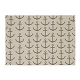 Brown Anchors 5'x7'Area Rug