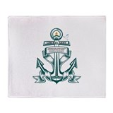 Liberty Army Anchor Throw Blanket