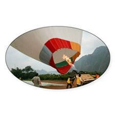 Launching a hot air balloon - Decal