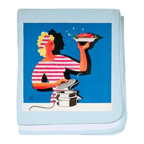 Electric cooker, 1940s artwork - Baby Blanket