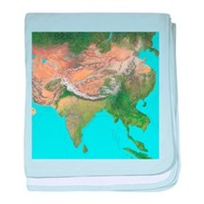 Map of Asia - Baby Blanket