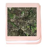 Stoke-on-Trent, UK, aerial image - Baby Blanket
