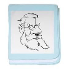 Alfred Wallace, caricature - Baby Blanket