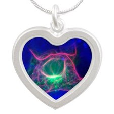 t micrograph - Silver Heart Necklace