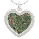 Oxford, UK, aerial image - Silver Heart Necklace