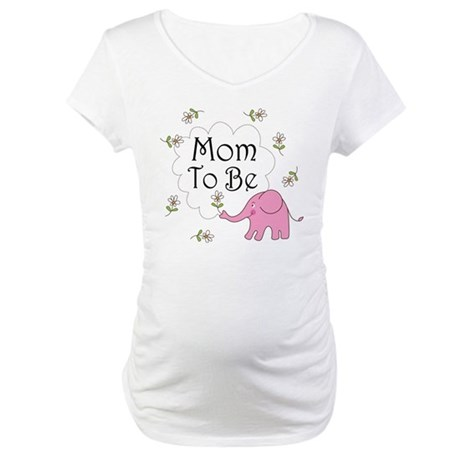 Mom To Be (pink elephant) Maternity T-Shirt