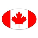 candian flag bumper sticker