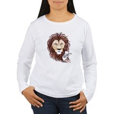Peek-a-boo lamb with lion Long Sleeve T-Shirt