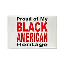 Proud Black American Heritage Rectangle Magnet