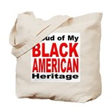 Proud Black American Heritage Tote Bag