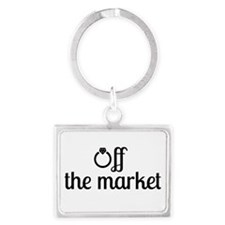 Off the Market Bride Landscape Keychain