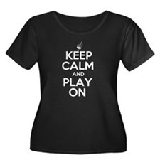 Keep Calm and Play On Bagpipe Plus Size T-Shirt