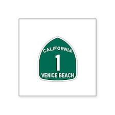 Venice Beach, California High Sticker (Rectangular