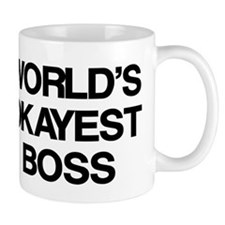 World's Okayest Boss Small Mugs
