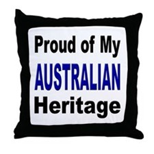 Proud Australian Heritage Throw Pillow