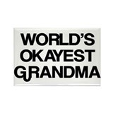 World's Okayest Grandma Rectangle Magnet