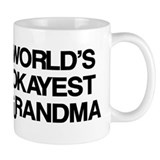 World's Okayest Grandma Small Mug