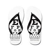 Eye Chart Flip Flops
