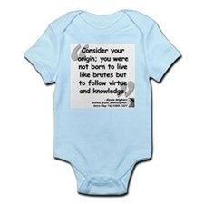 Dante Virtue Quote Onesie