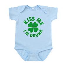Kiss Me I'm Drunk Infant Bodysuit