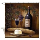 Cute Wine Shower Curtain