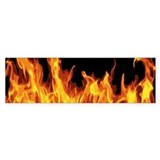 Flames Bumper Sticker