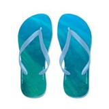 Sea Green Flip Flops