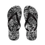 Grey Marble Flip Flops