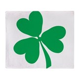 Shamrock-2.png Throw Blanket