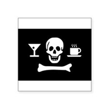 Beverage Pirate Modern Jolly Roger Sticker