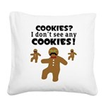 Gingerbread Man Disguise Square Canvas Pillow