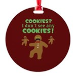 Gingerbread Man Disguise Round Ornament
