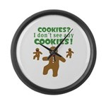 Gingerbread Man Disguise Large Wall Clock