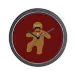 Gingerbread Man Disguise Wall Clock
