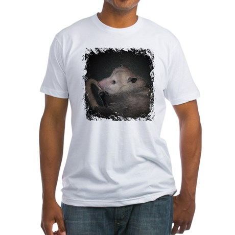 Sleepy Possum Fitted T-Shirt