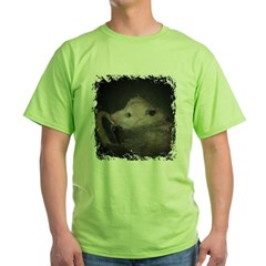Sleepy Possum Green T-Shirt
