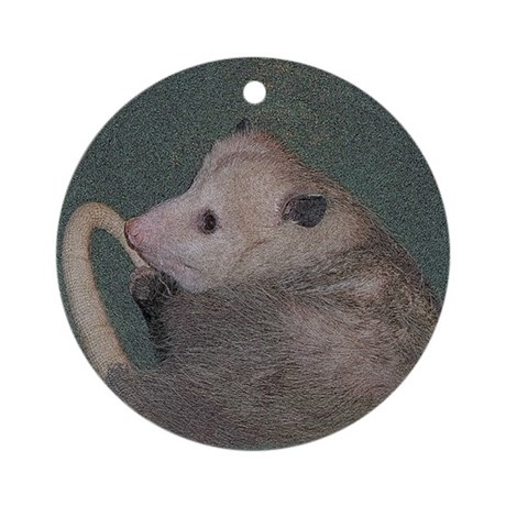 Sleepy Possum Ornament (Round)