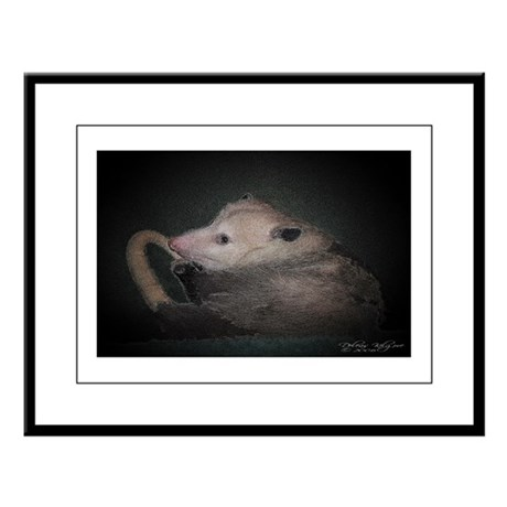 Sleepy Possum Large Framed Print