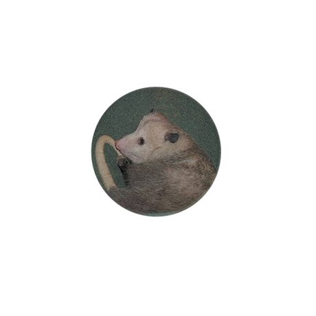 Sleepy Possum Mini Button