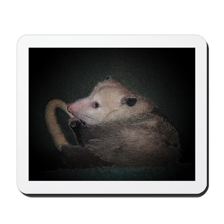 Sleepy Possum Mousepad