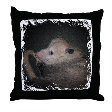 Sleepy Possum Throw Pillow