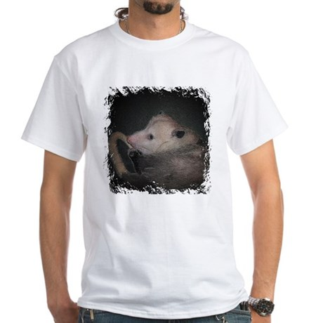 Sleepy Possum White T-Shirt
