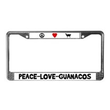 Peace-Love-Guanacos License Plate Frame