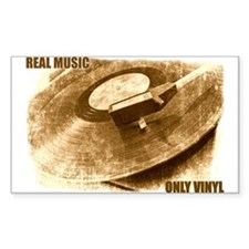 Real Music - Only Vinyl Decal