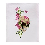 SugarSkullStargazersTall Throw Blanket